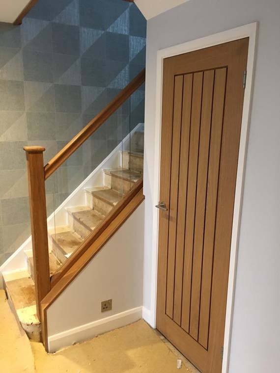 Internal door to match stairs